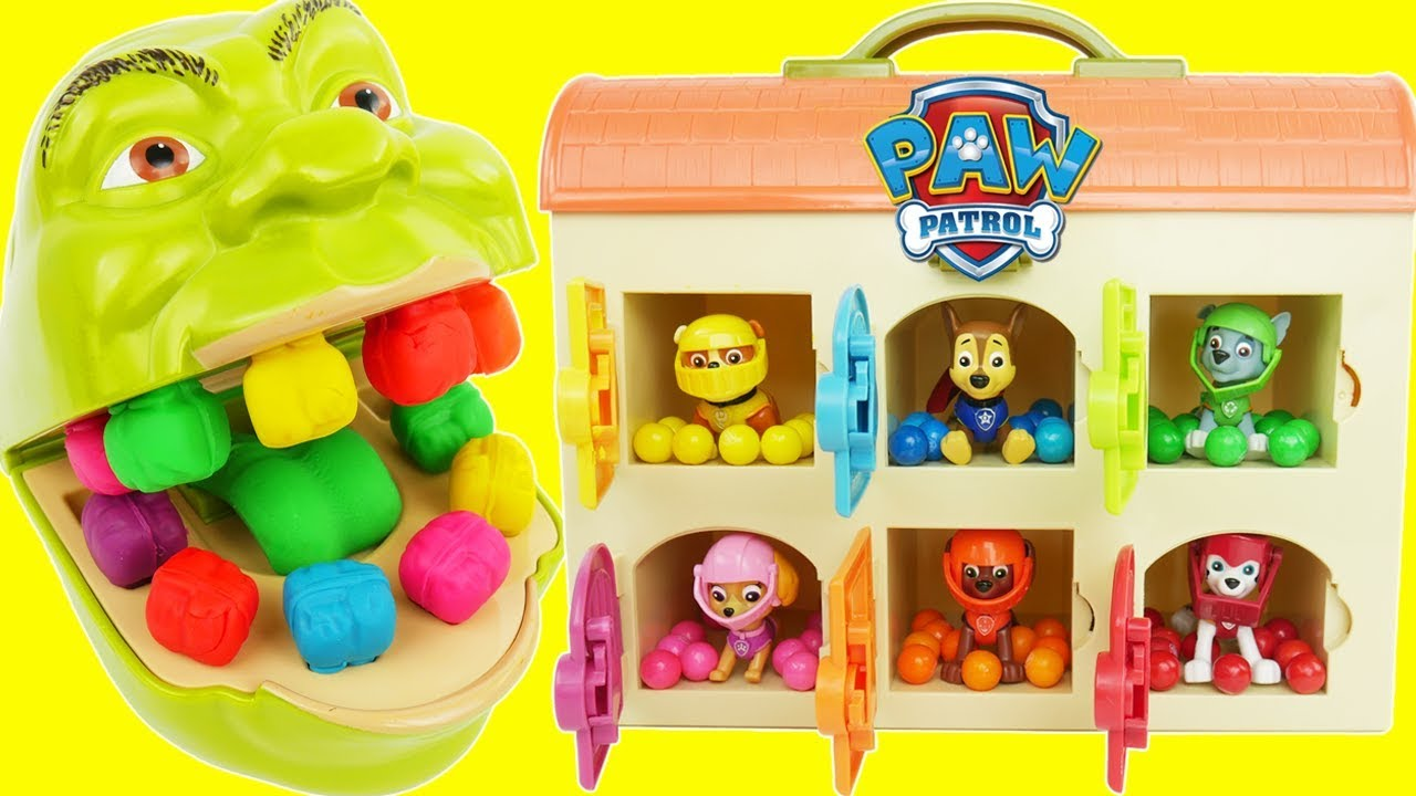 Paw Patrol Skye Chases Baby Eat Colorful M M S Puppies