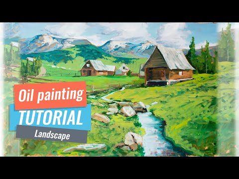Landscape Painting | Oil Painting Lesson