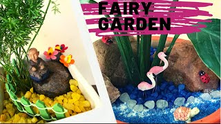 In today's video i will show two easy fairy garden tutorials. Product links Terrarium kit https://amzn.to/31BWrUv sand for fairy garden https://amzn.to/2JfWnDv blue ...