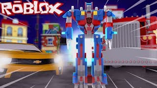 VIREI UM TRANSFORMERS no ROBLOX (Transformes in Roblox) - Frango