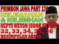 Kelemahan & Kelebihan Neptu Weton Jodoh Ketemu 32, 33, 34, 35, 36 | Primbon Jawa Syari'ah MS174