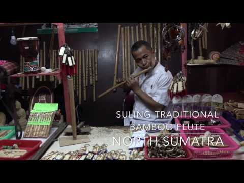 Traditional Bamboo Flute from North Sumatra