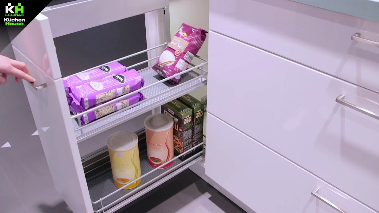 Espacio y almacenamiento en las cocinas kuchenhouse youtube - Amueblamiento de cocinas ...