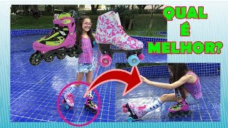 PATINS QUAD VS PATINS IN-LINE NO PARQUE
