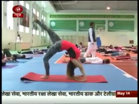 Status of Yoga Kendra in Turkmenistan that Narendra Modi had opened last year