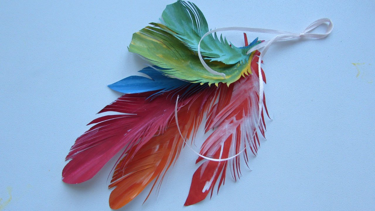 Make colorful feather decorations diy crafts for Where to buy craft feathers