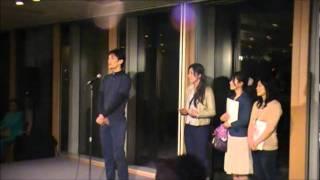 フラワーアートアワード2011グランプリ受賞スピーチ1
