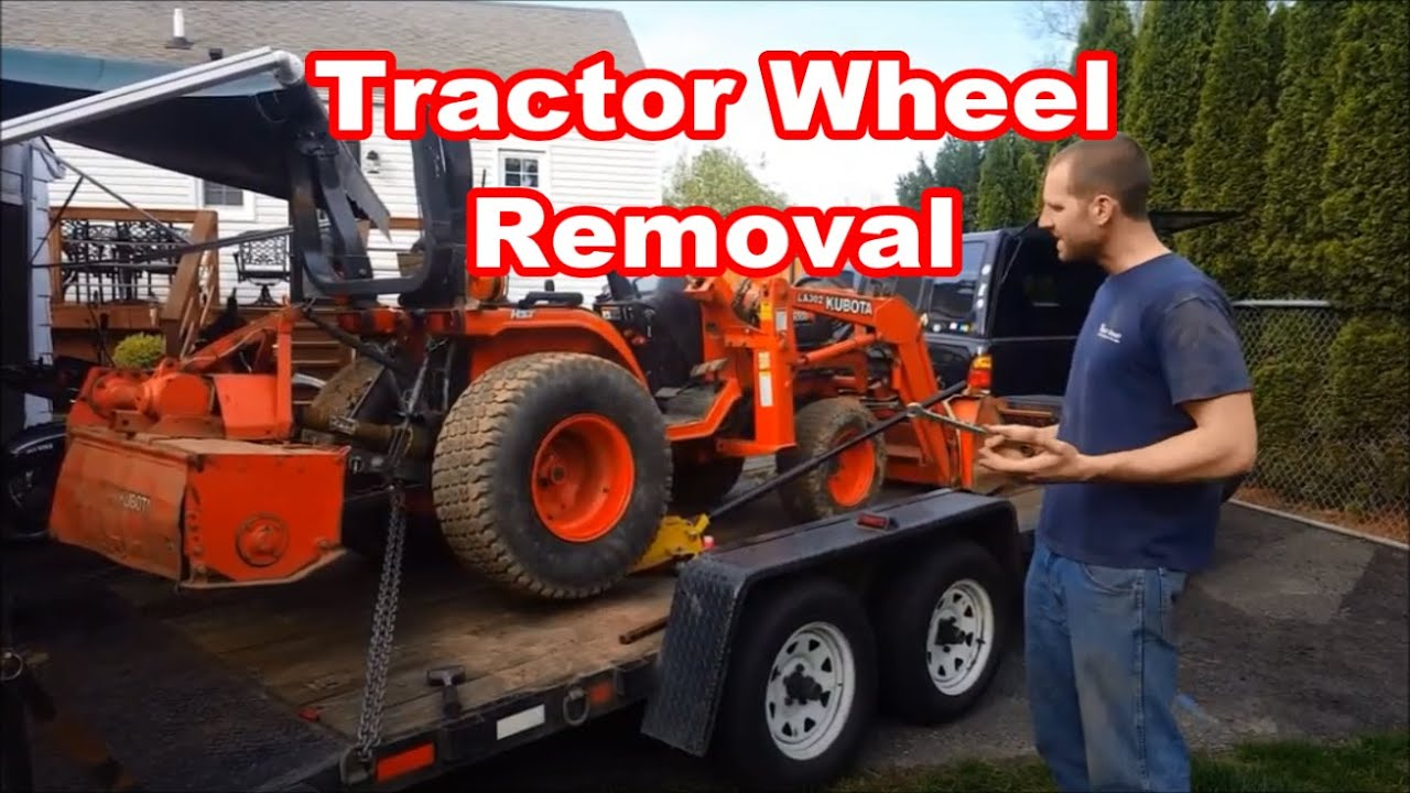 Kubota B7500 tractor WHEEL REMOVAL how to remove wheels