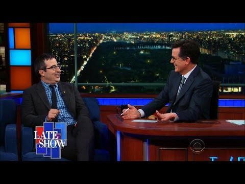 "John Oliver Loves ""America's Step-Dad"" Tim Kaine"