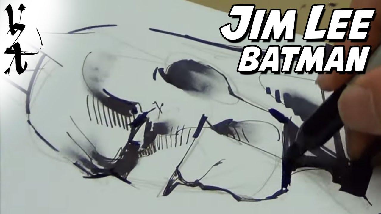 jim lee drawing batman