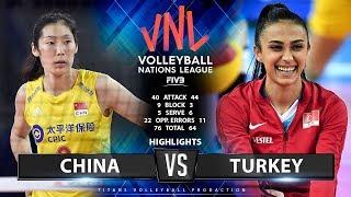 CHINA Vs TURKEY - HIGHLIGHTS | Women's VNL 2019