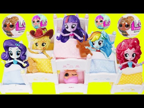My Little Pony Equestria Girls Game Bedtime Routine Movie Triple Bunk Beds Wrong Heads Toy Surprises