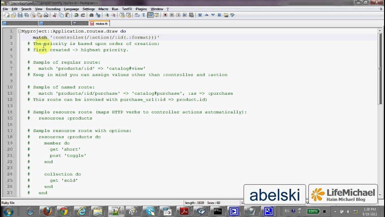 Hello World in Ruby & Rails (URL Requests Configuration)