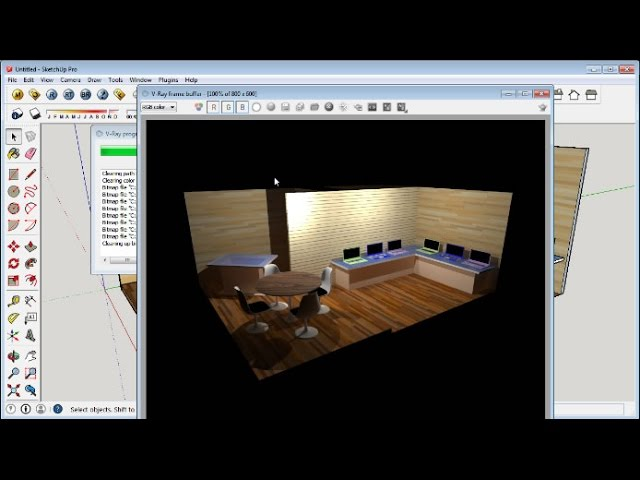 Sketchup Booth Design Tutorial Youtube