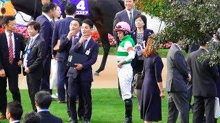 ムーアはどこへ行けばいいのか。騎手と馬主の集まり。エリザベス女王杯のパドック。現地映像、京都競馬場