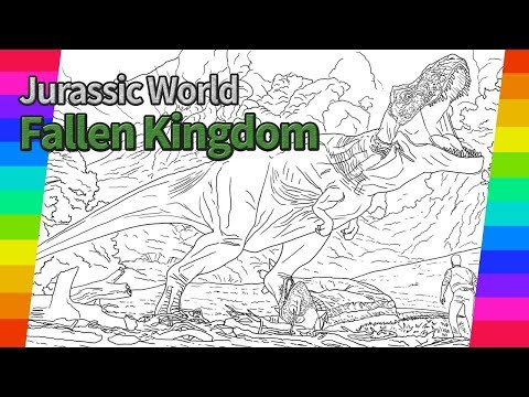 Jurassic World Fallen Kingdom Movie drawing   How To Draw   drawing and coloring pages