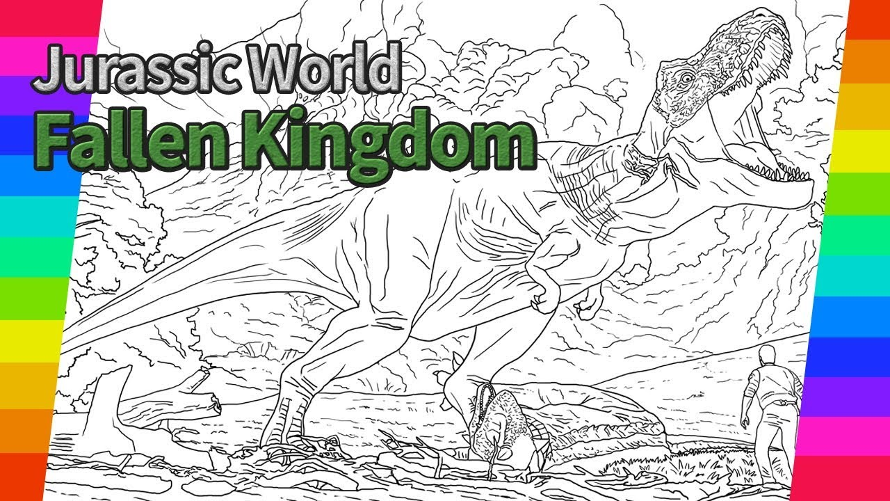 Jurassic World Fallen Kingdom Movie Drawing How To Draw Drawing And Coloring Pages Youtube