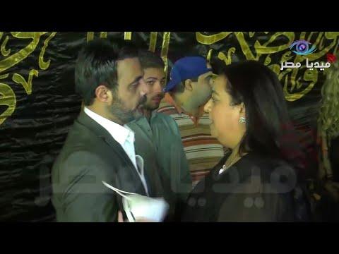 ابنه رجاء الجداوي أول الحضور فى عزاء الفنان محمود ياسين