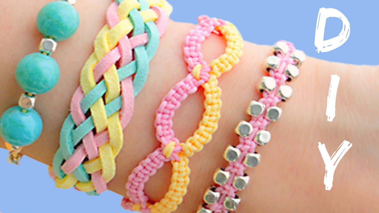 Diy friendship bracelets 4 easy stackable arm candy projects youtube solutioingenieria Choice Image