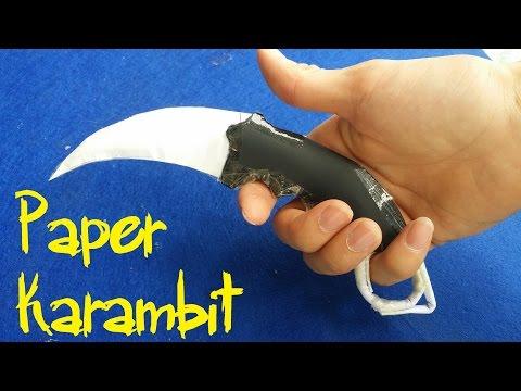 How to make a Paper CS:GO Karambit   Paper Knife