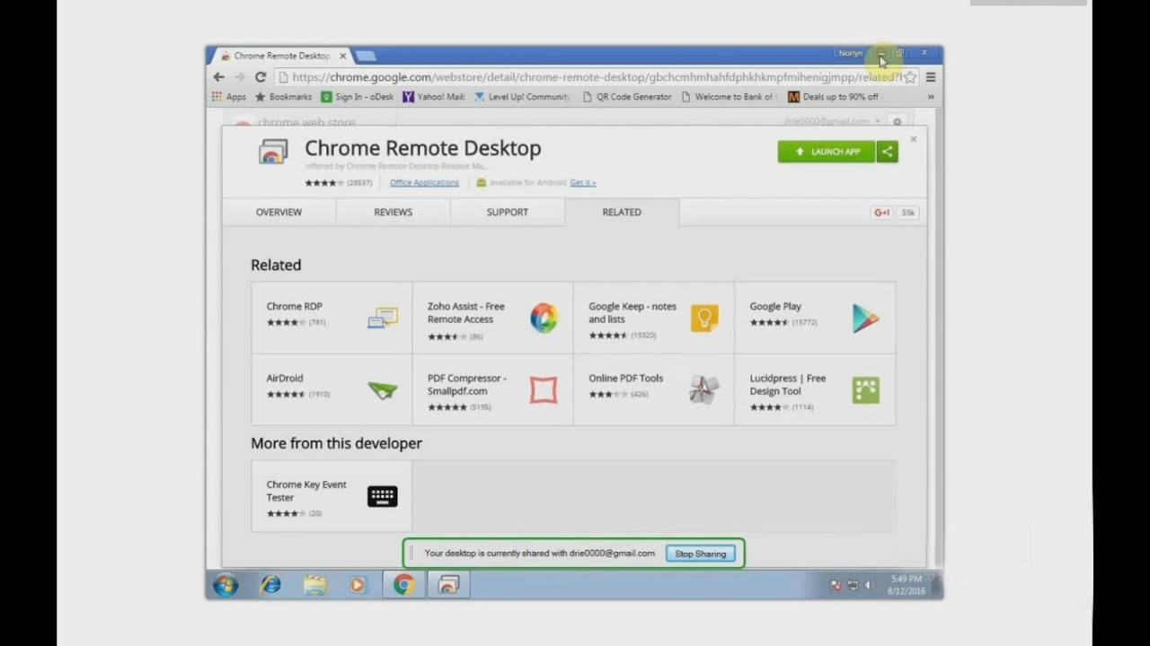 Remote Access your computer using Chrome browser