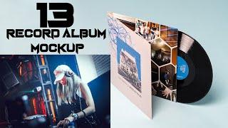 Record Album Mockup Templates Download  N PSD Files Photoshop Tutorial