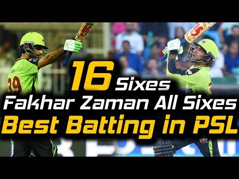 Fakhar Zaman All Sixes in PSL | Best Batting | Fakhar e Pakistan | Lahore Qalandars | HBL PSL 2018