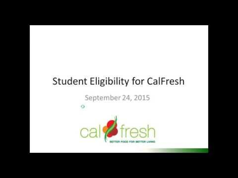 Student Eligibility for CalFresh