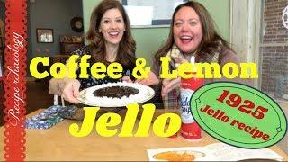 1925 Vintage Recipe - Coffee and Lemon Jello