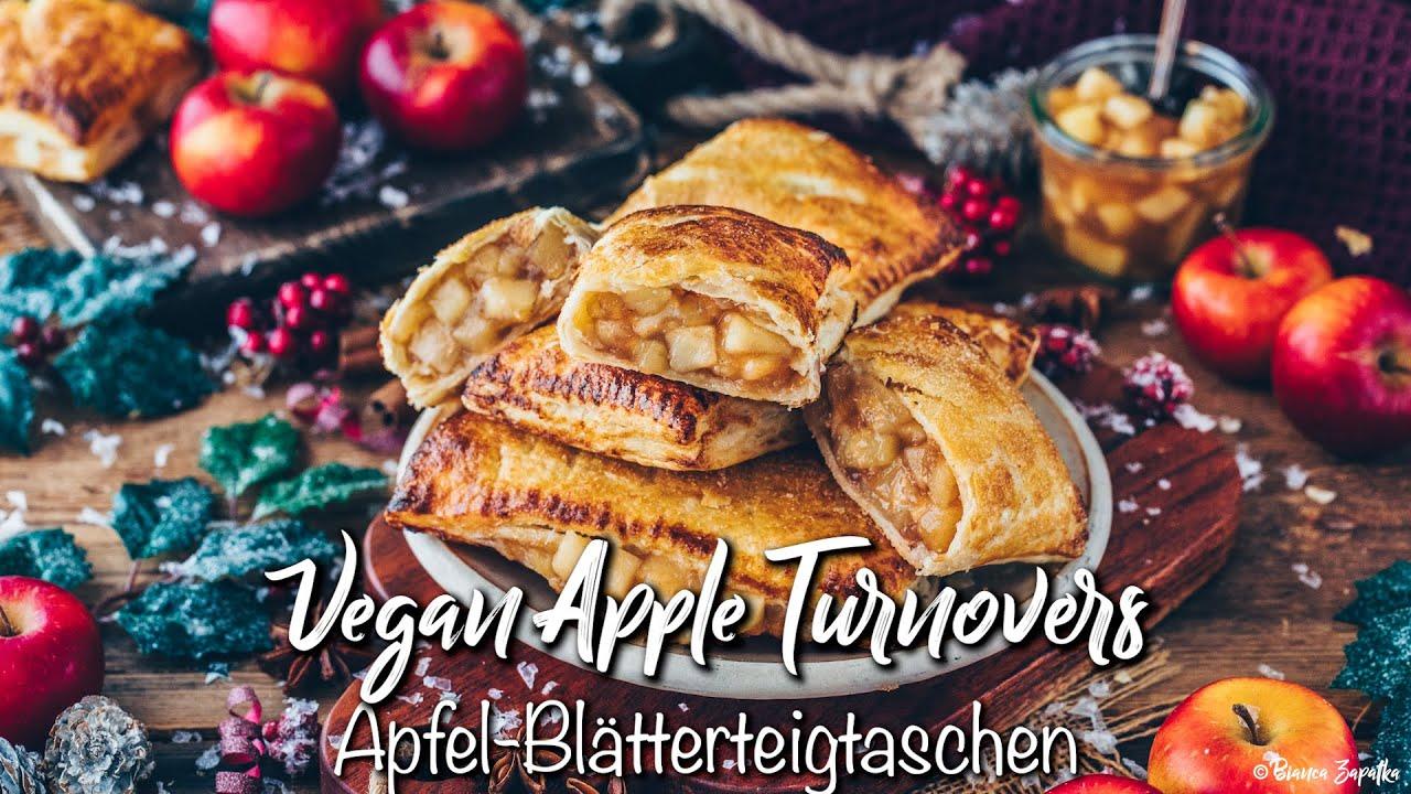 Vegane Apfeltaschen mit Blätterteig * Rezept