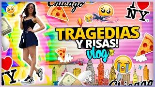 TRAGEDIAS, VUELOS PERDIDOS, CASI ME ATROPELLA UNA BICI! | NEW YORK + CHICAGO VLOG