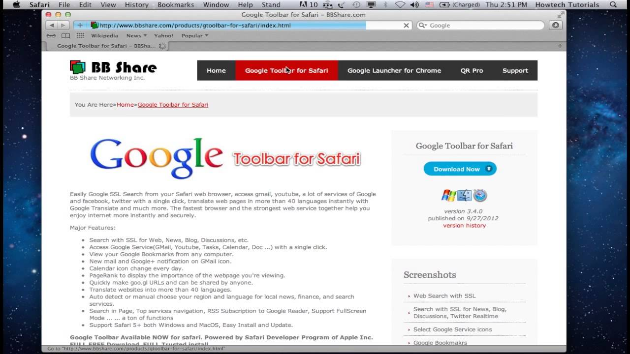 How To Install Google Search Bar In Safari