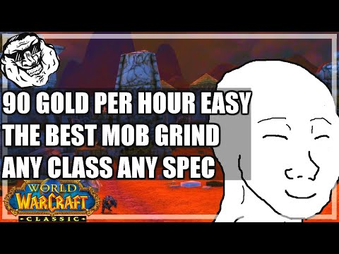 WoW Classic Guide - 90 Gold / Hour Blasted Lands Mob Grind. Best Mob Farm In The Game. Easy Farm.