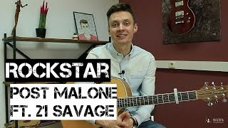 Ваня, научи! | ROCKSTAR - POST MALONE FT. 21 SAVAGE разбор на гитаре. Фингерстайл