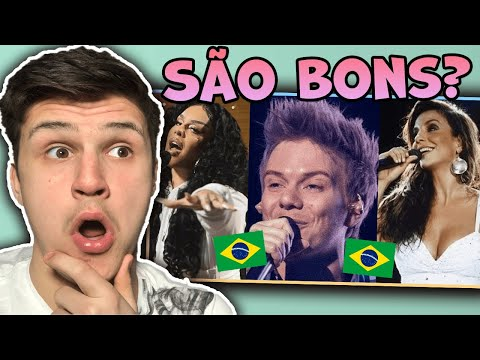 Brazilian Artists Singing In ENGLISH 😱!? Are they Good ? |🇬🇧UK Reaction