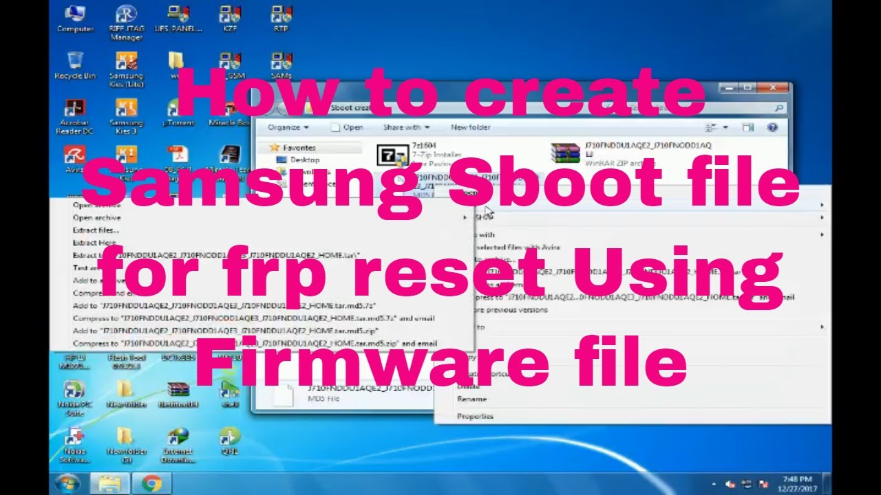 How to create Samsung mobile Sboot file for frp reset Using Firmware file  by MOBITEL SOLUTION