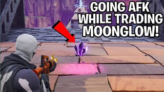 Going AFK While Trading My Moonglow! *RAREST ITEM* (Scammer Gets Scammed) Fortnite Save The World