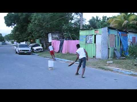 jamaican street cricket funny video@officialjaboyz