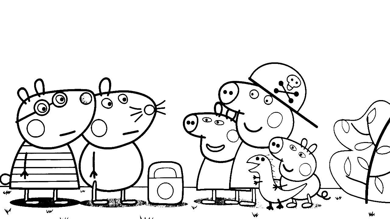 Pintar Desenho Da Peppa Pig Colorir Porquinha Peppa Mamae Pig