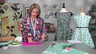 Learn how add cap sleeves to any top or dress on It's Sew Easy with Caroline Critchfield (1705-2)