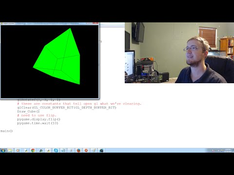 OpenGL with PyOpenGL tutorial Python and PyGame p.1 - Making a rotating Cube Example