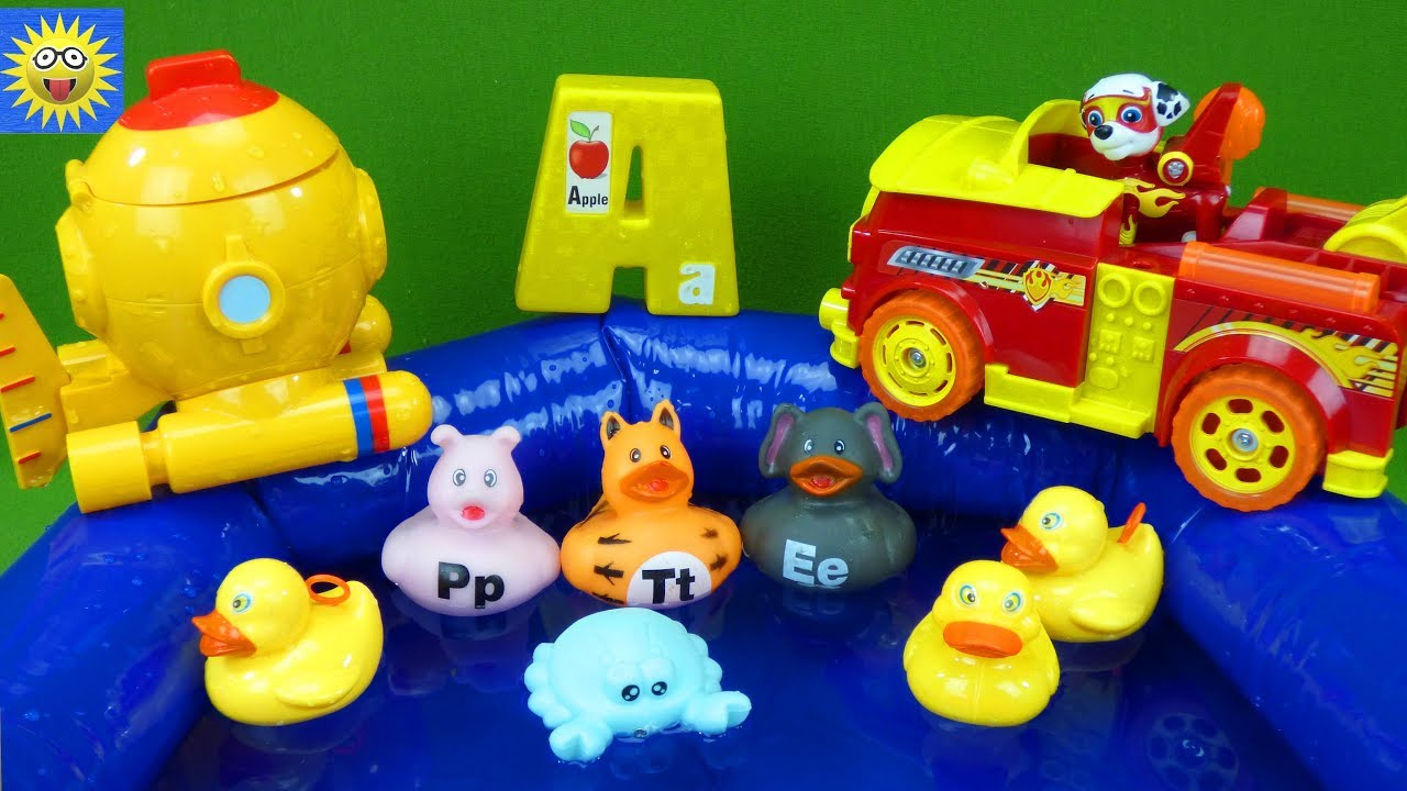 Paw Patrol Toys Go Fishing Duck Pond Best Learning Videos ...