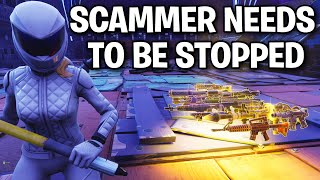 SCAMMER needs to be stopped! 😞 (Scammer Get Scammed) Fortnite Save The World