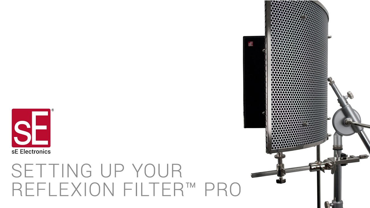 se electronics reflexion filter pro assembly video youtube. Black Bedroom Furniture Sets. Home Design Ideas