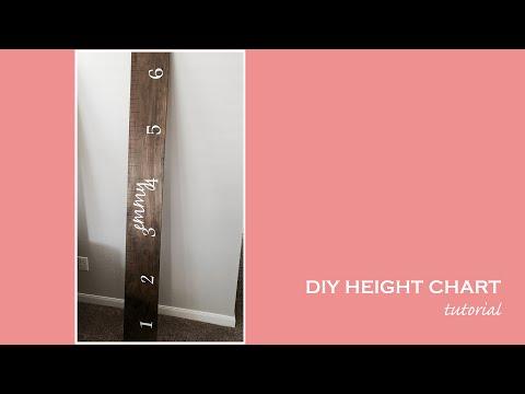 DIY Height Chart Tutorial | Growth Chart