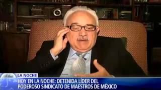 Conmoción en México por captura de presidente del sindicato de educación (IV)