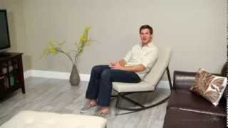 Belham Living Grayson Tufted Rocking Chair