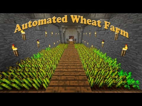 Minecraft:  How To Make An Automated Wheat Farm  (part 9)