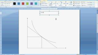 Drawing Indifference Curves and Budget Constraints in Microsoft Word