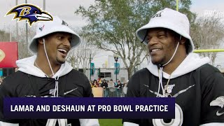 Lamar Jackson, Deshaun Watson Discuss Pro Bowl Practice, College | Baltimore Ravens